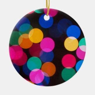 Christmas Tree Lights Ceramic Ornament