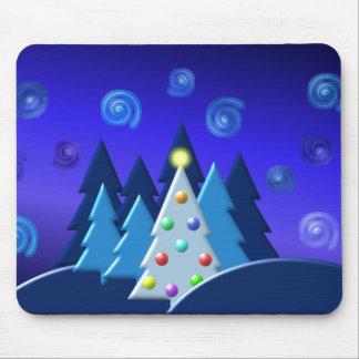 Christmas Tree Lights DARK Design Mouse Pads