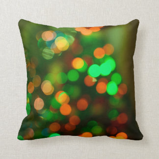 Christmas Tree Lights Decorative Pillow