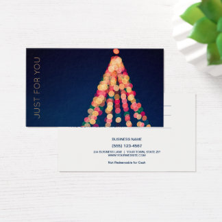 Christmas Tree Lights Gift Card Certificate
