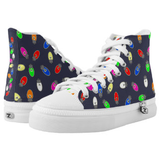 Christmas Tree Lights High Top Holiday Sneakers