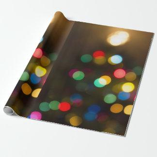 Christmas Tree Lights Holiday Gift Wrap