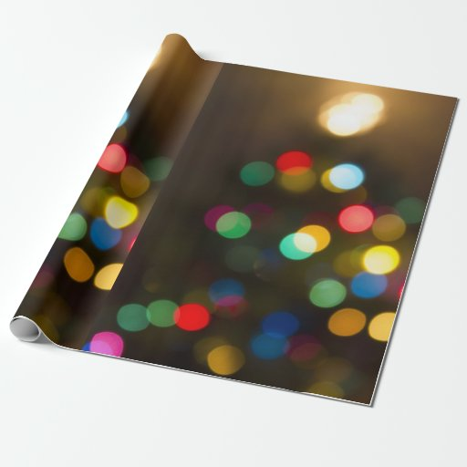 Christmas Tree Lights Holiday Gift Wrap Wrapping Paper