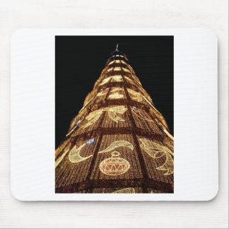Christmas tree lights mouse pad