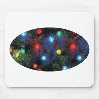 Christmas Tree Lights Mousepad