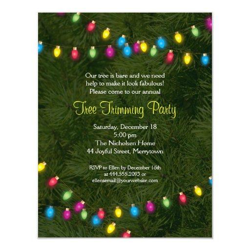Christmas Tree Lights Party Invitation | Zazzle