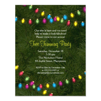 Christmas Tree Lights Party Invitation