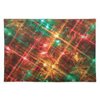 christmas tree lights placemat