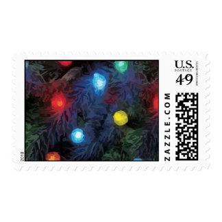 Christmas Tree Lights Postage