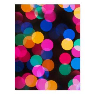 Christmas Tree Lights Postcard