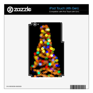christmas tree lights skins for iPod touch 4G