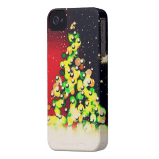 Christmas Tree - Lights & Sparkles ! iPhone 4 Case-Mate Case