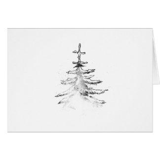 Christmas tree lithograph card