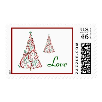 Christmas Tree Love Postage