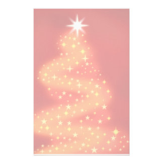 Christmas tree made of stars personalized stationery