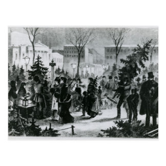 Christmas tree market in the Augustusplatz Postcard