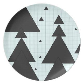 Christmas tree melamine plate