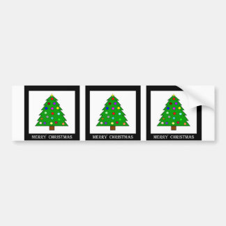 Christmas Tree (Merry Christmas) Bumper Sticker