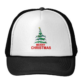Christmas Tree Merry Christmas Trucker Hat