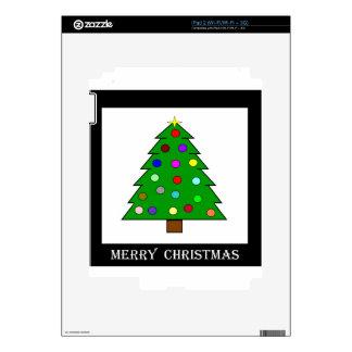 Christmas Tree (Merry Christmas) Decal For iPad 2