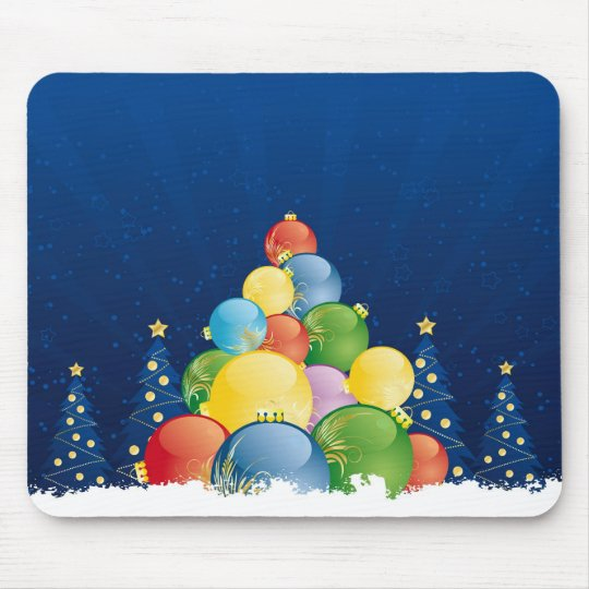 Christmas tree mouse pad