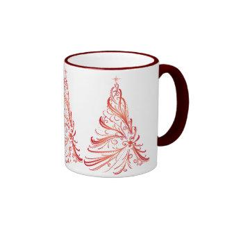 Christmas Tree Ringer Coffee Mug
