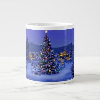 Christmas tree mug 20 oz large ceramic coffee mug
