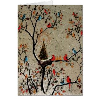Christmas Tree Nest Card
