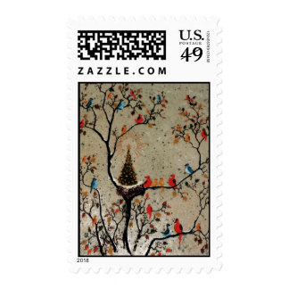 Christmas Tree Nest ~ Postage Stamps