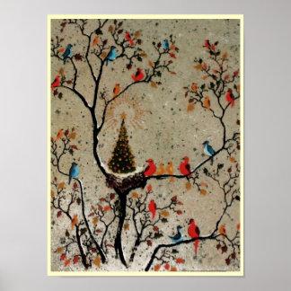 Christmas Tree Nest ~ Print Poster