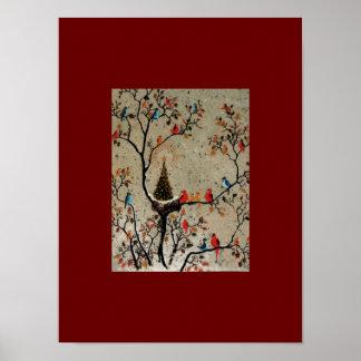Christmas Tree Nest ~ Print / Poster