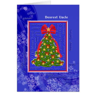 Christmas Tree O Tannenbaum Snowflakes for Uncle Card