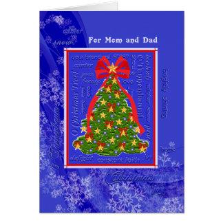 Christmas Tree O Tannenbaum Snowflakes Mom & Dad Card