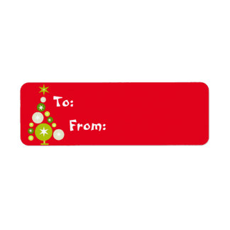 Christmas Tree of Circles Gift Lables Label