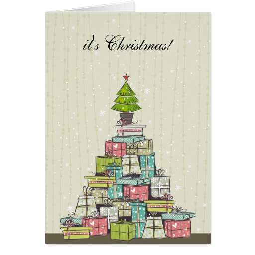 Christmas Tree of Gifts  Card