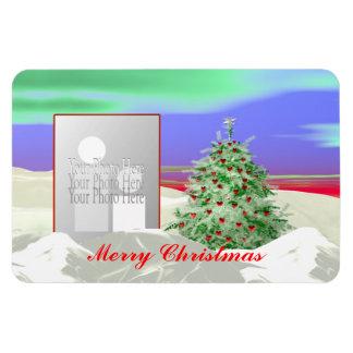 Christmas Tree of Hearts (photo frame) Rectangular Photo Magnet