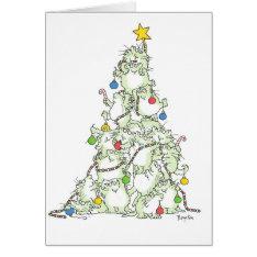 Christmas Tree Of Kitties Card By Sandra Boynton at Zazzle