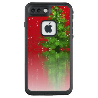 Christmas Tree on a Red Background   Phone Case