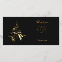 Christmas Tree on Black 001 Thank You Card