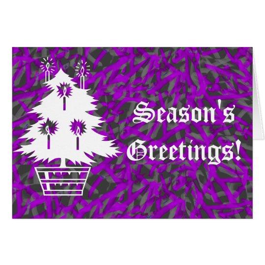 Christmas Tree on Purple and Green Card