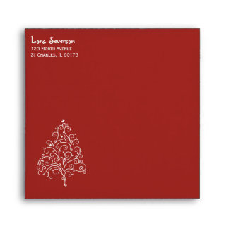 Christmas Tree on Red Envelope