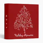 Christmas Tree on Red Holiday Memories Binder