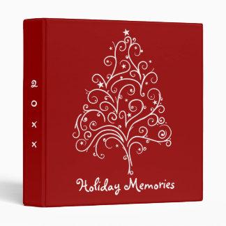 Christmas Tree on Red Holiday Memories Binder