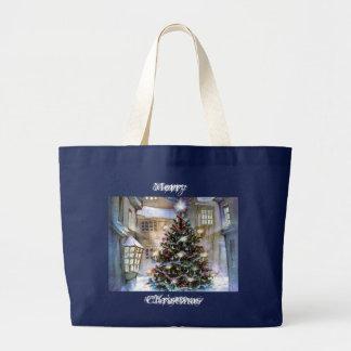 Christmas tree on street bags