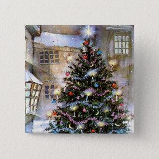 Christmas tree on street button