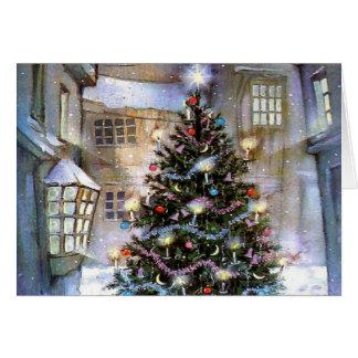 Christmas tree on street card