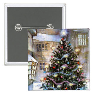 Christmas tree on street pin