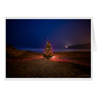 Christmas Tree on the Beach Christmas Card