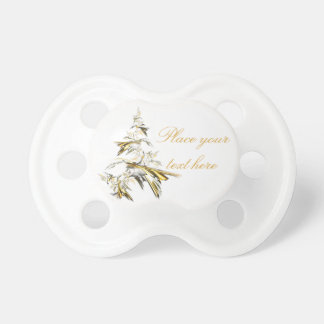 Christmas Tree on White 001 Pacifier
