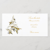 Christmas Tree on White 001 Save The Date